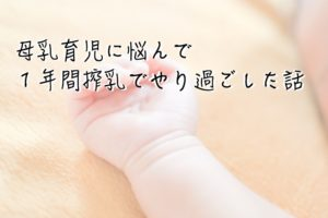 母乳育児に悩んだときに、1年間搾乳でやり過ごした話