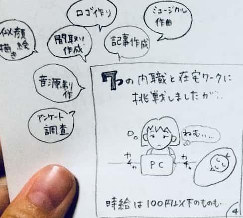 色々な内職に挑戦するも、時給は100円以下