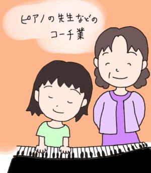 ピアノの先生などのコーチ業