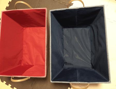 子どもの服を仕分ける箱
