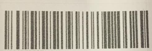 実際にバーコードを印刷したもの
