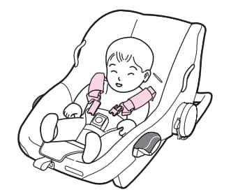 チャイルドシート兼用ベビーカー