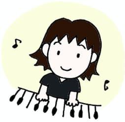 ピアノ弾いてる絵